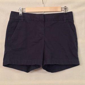 "J. Crew dark navy 5"" cotton twill chino shorts"